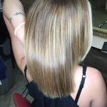 Бондинг на средние волосы